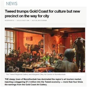 Gold Coast Sun press 26 july 2015